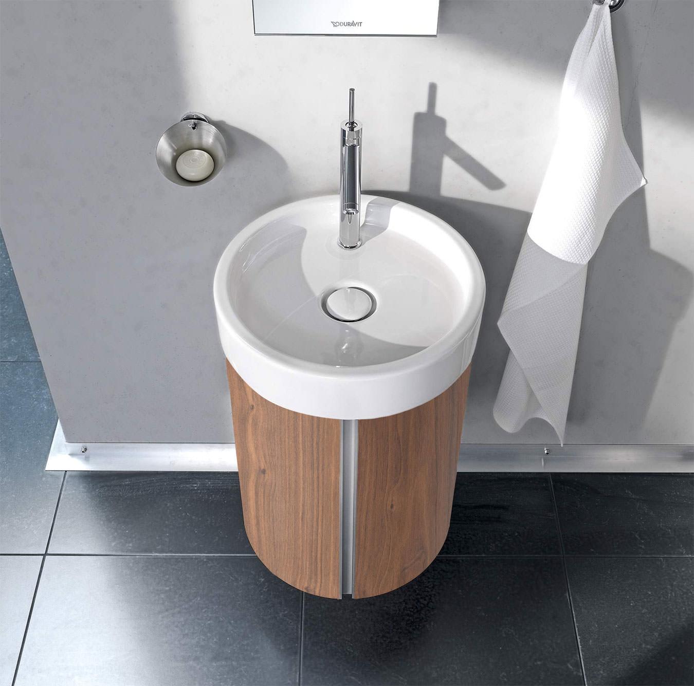 duravit starck wall mounted 450mm circular vanity unit and 470mm basin