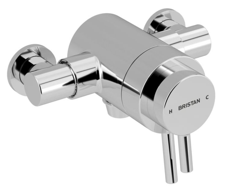 Bristan Prism Thermostatic Exposed Bottom Outlet Dual
