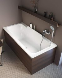 Duravit DuraStyle 1600 x 700mm Bath With Left Slope And ...