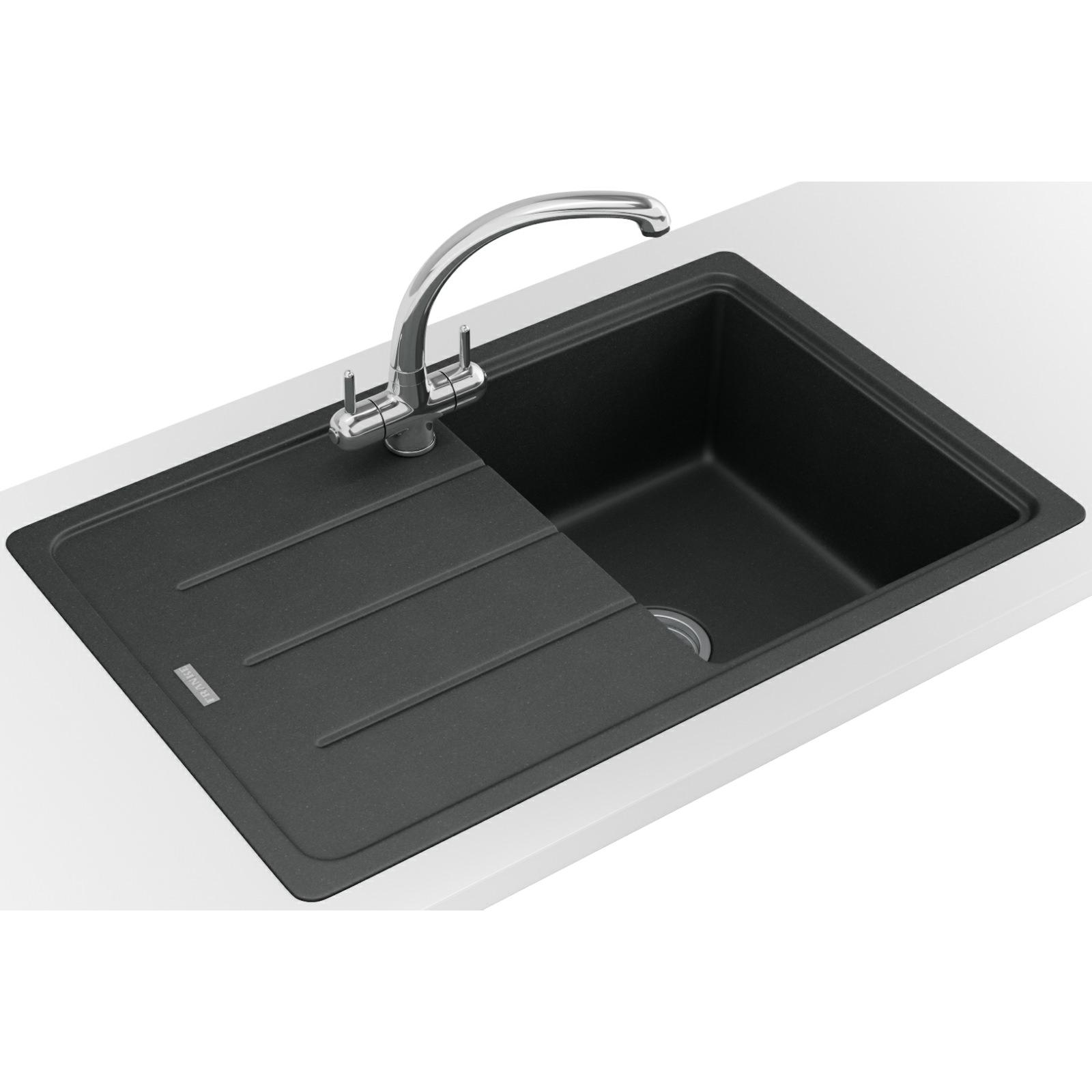 franco kitchen sinks booster seat franke basis bfg 611 780 fragranite onyx 1 bowl inset
