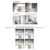 Schneider Taikaline 2 Door 1000mm Mirror Cabinet