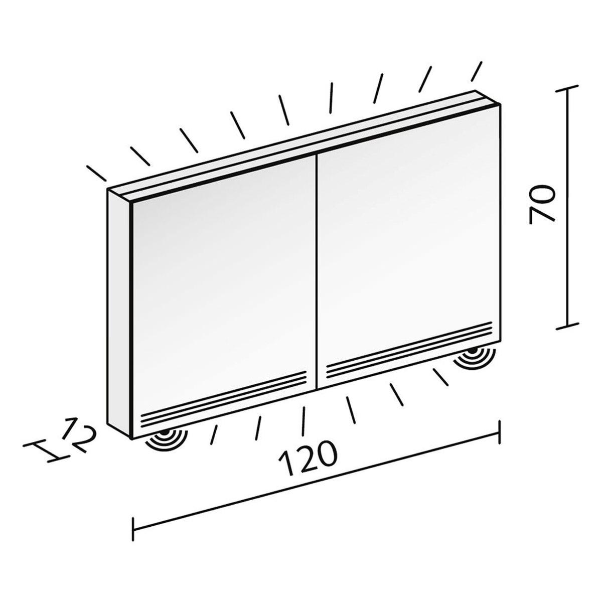Schneider Graceline 2 Door Mirror Cabinet With Led Light