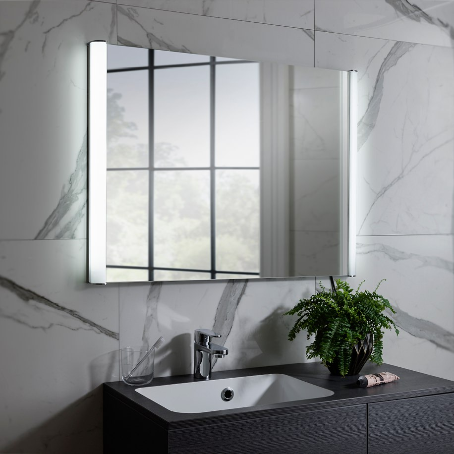 Illuminated Bathroom Mirror Bauhaus Serene 800 X 600mm Illuminated Bathroom Mirror
