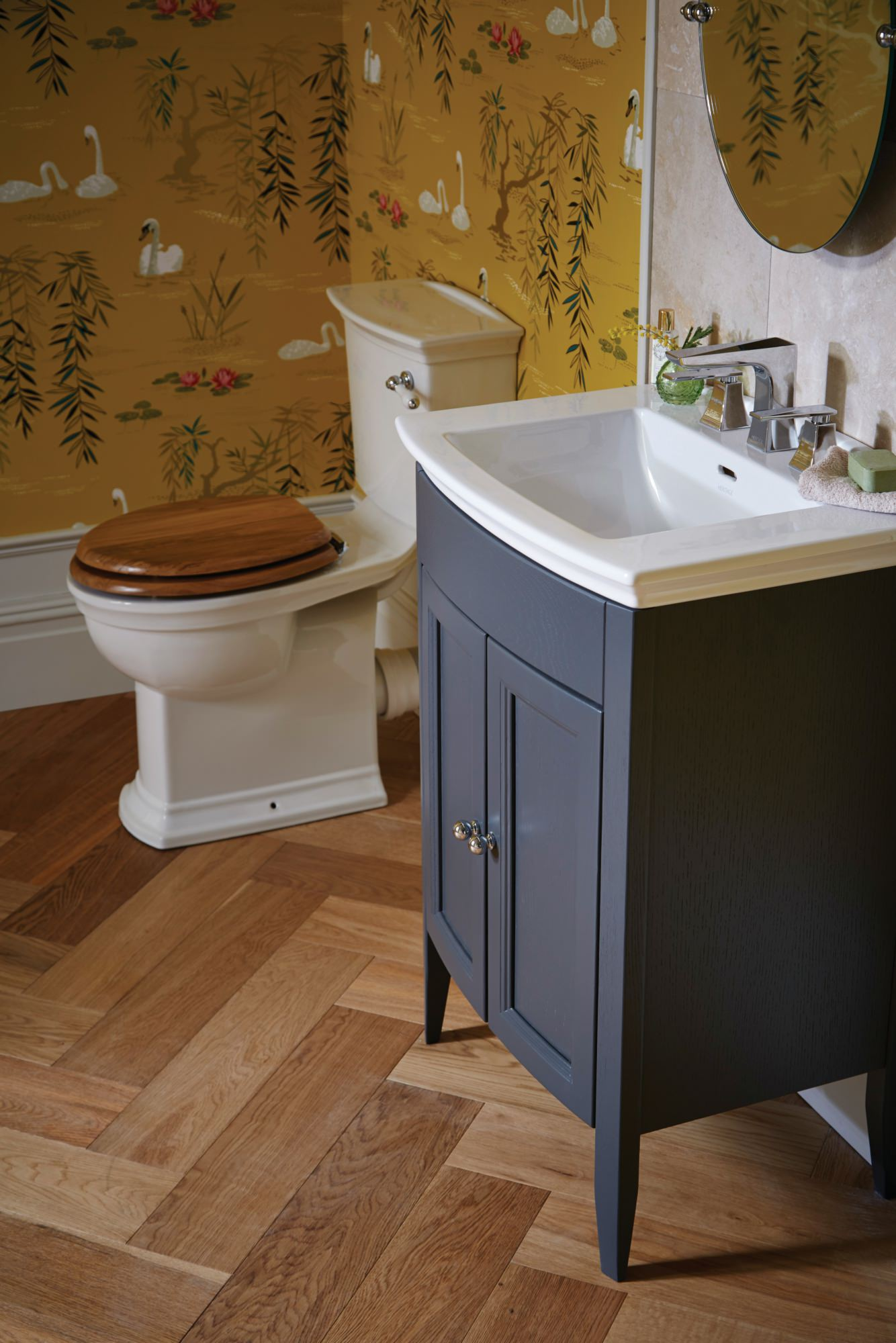 Heritage Caversham Graphite Vanity Unit For Blenheim Basin  KGRHP34