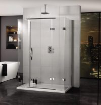 Aquadart Inline 900 x 800mm 3 Sided Hinged Door And Side ...
