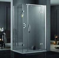 Aquadart Inline 1200 x 900mm 2 Sided Hinged Shower Door ...