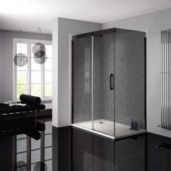 Kitchen Matt Air April Prestige Frameless 1200mm Smoked - Black Sliding ...