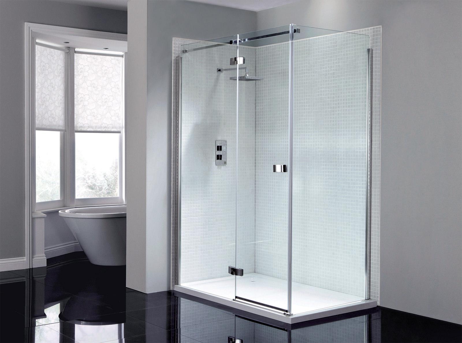 April Prestige Frameless 1200mm Hinged Shower Door  AP8912L