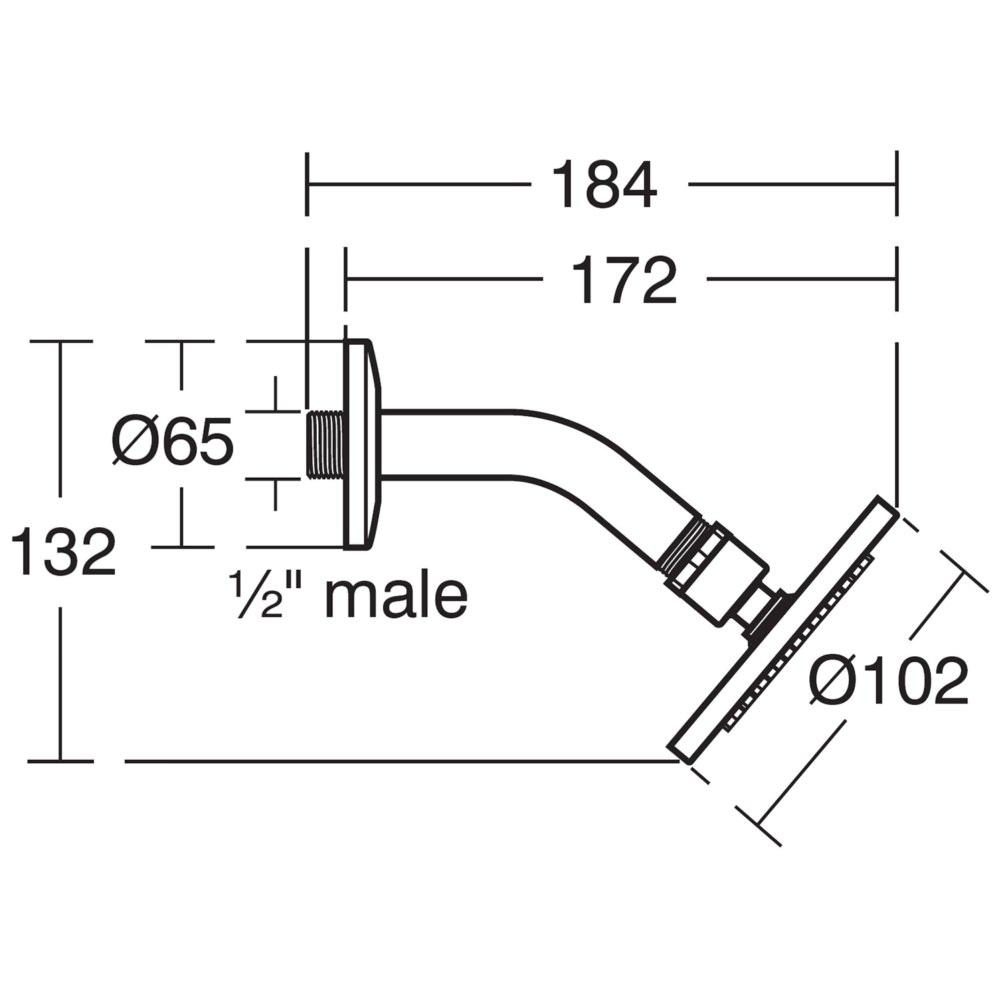 Ideal Standard Idealrain S1 Rainshower With Angled Arm