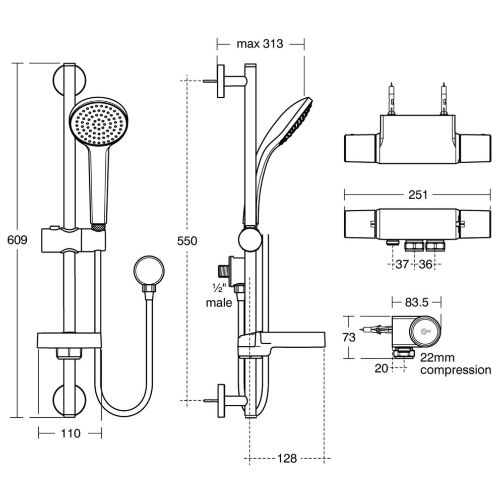 Ideal Standard Boost High Performance Venturi Exposed