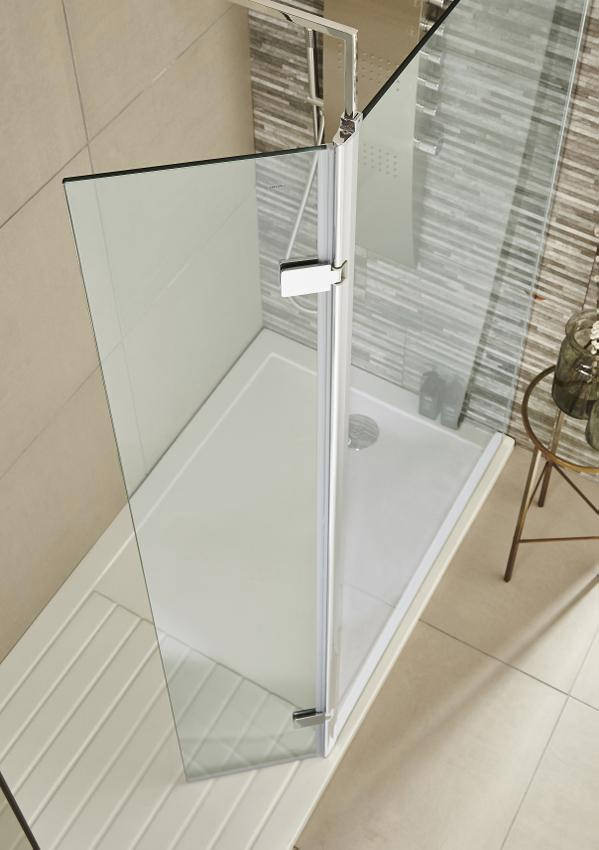 Premier 300 x 1832mm Wetroom Hinged Return Screen  WRS030H
