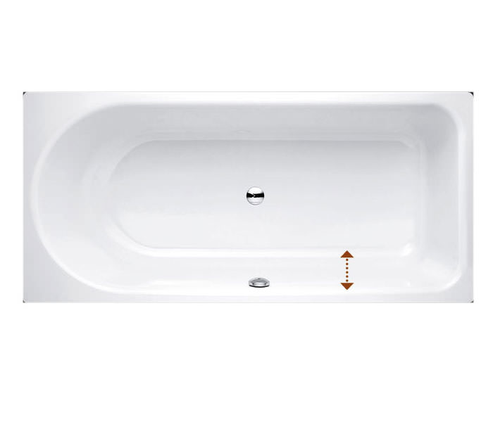 Bette Ocean Low Line 1700 X 800mm Steel Bath With Front