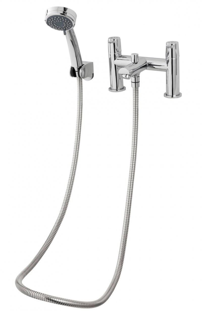 Triton Dene Bath Shower Mixer Tap With Handset And Hose