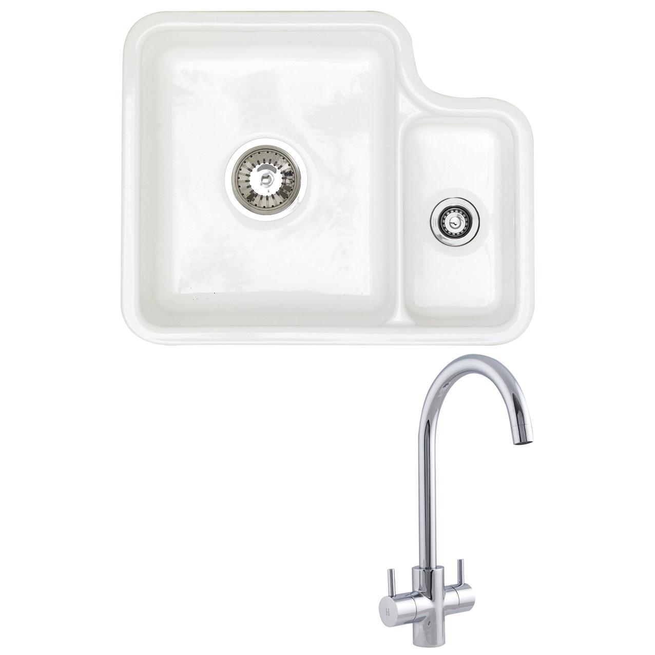 white kitchen sink undermount vent astracast lincoln 1 5 bowl ceramic
