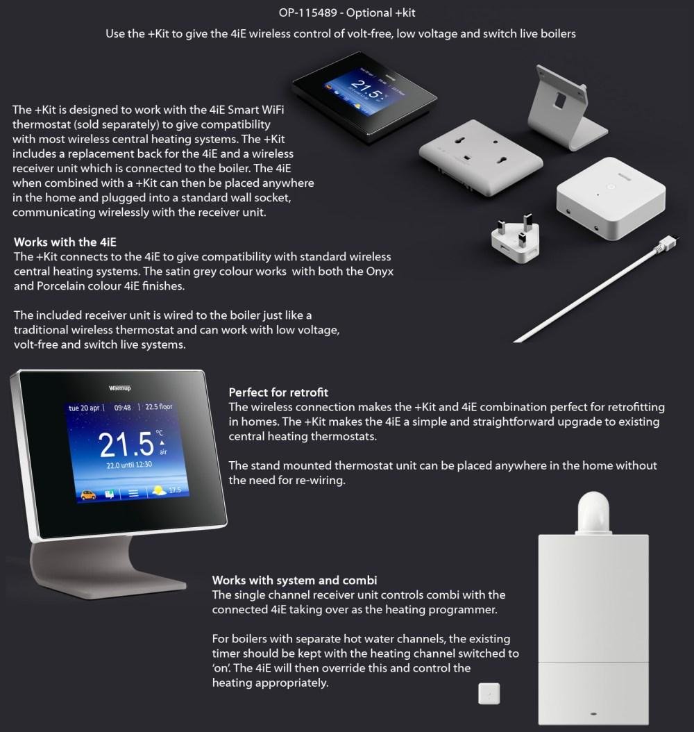medium resolution of  alternate image of warmup 4ie onyx black smart wifi thermostat bright porcelain finish optional