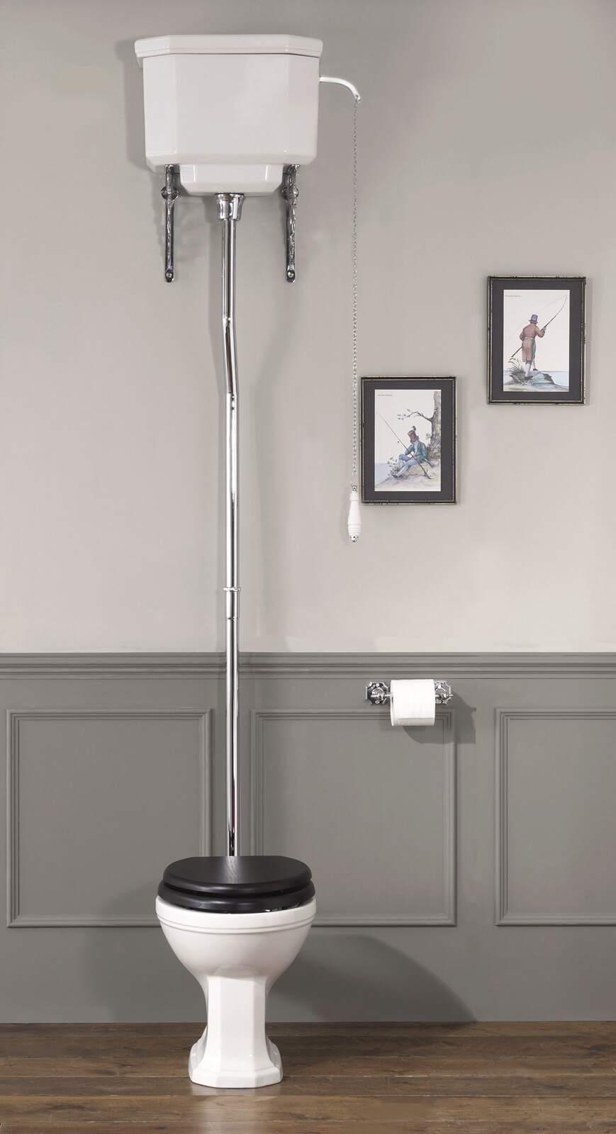Silverdale Empire High Level WC Pan With Cistern And