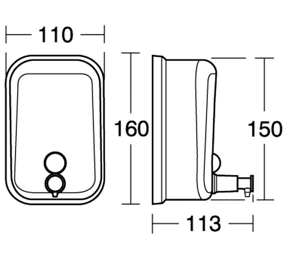Ideal Standard IOM 500ml Stainless Steel Soap Dispenser