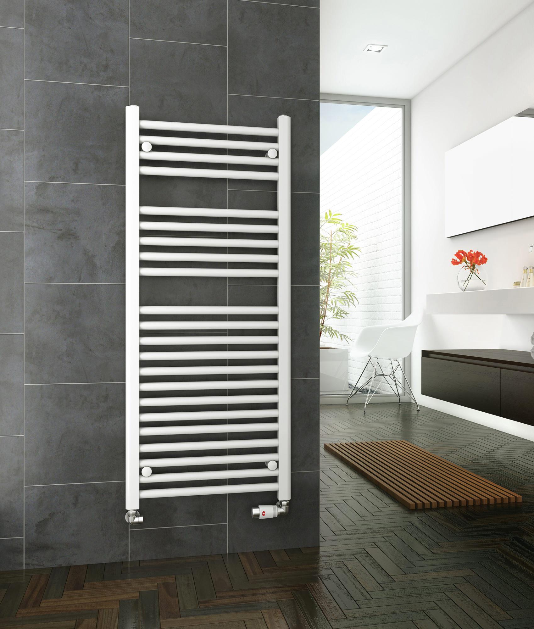 DQ Heating Metro 300mm Wide Straight Heated Towel Rail