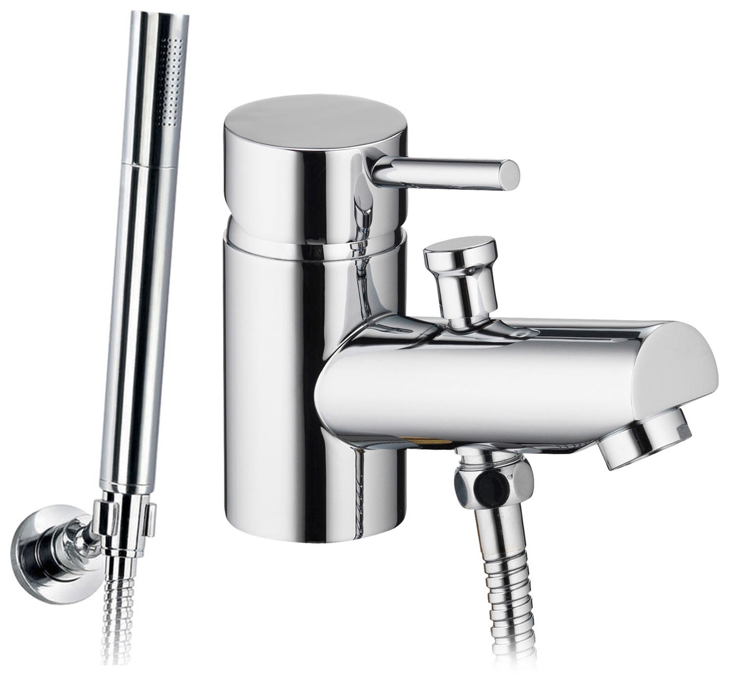 Pura Xcite Mono Bathshower Mixer Tap With Handset And Hose