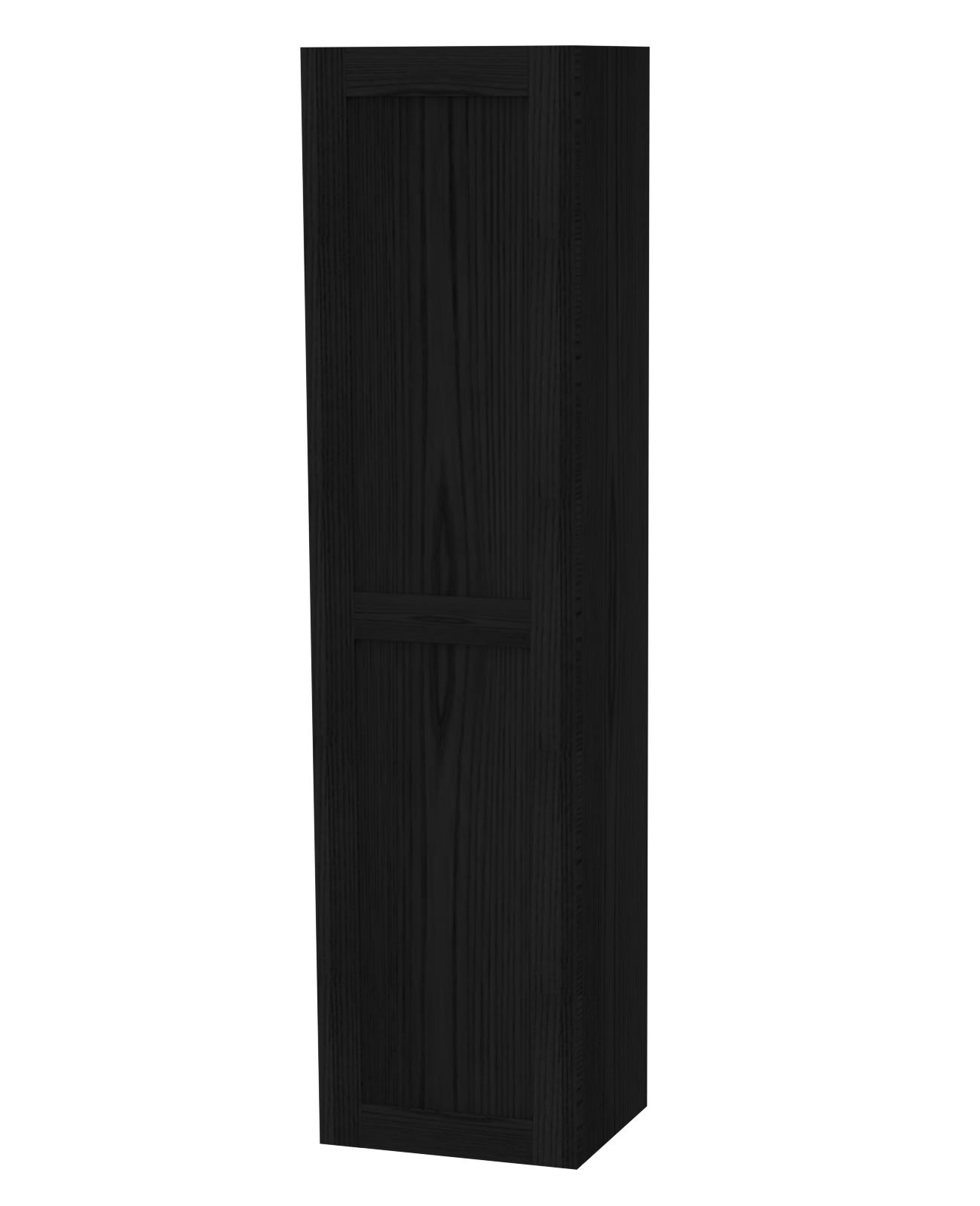 Miller London Black Single Storage Door Tall Cabinet 400 x
