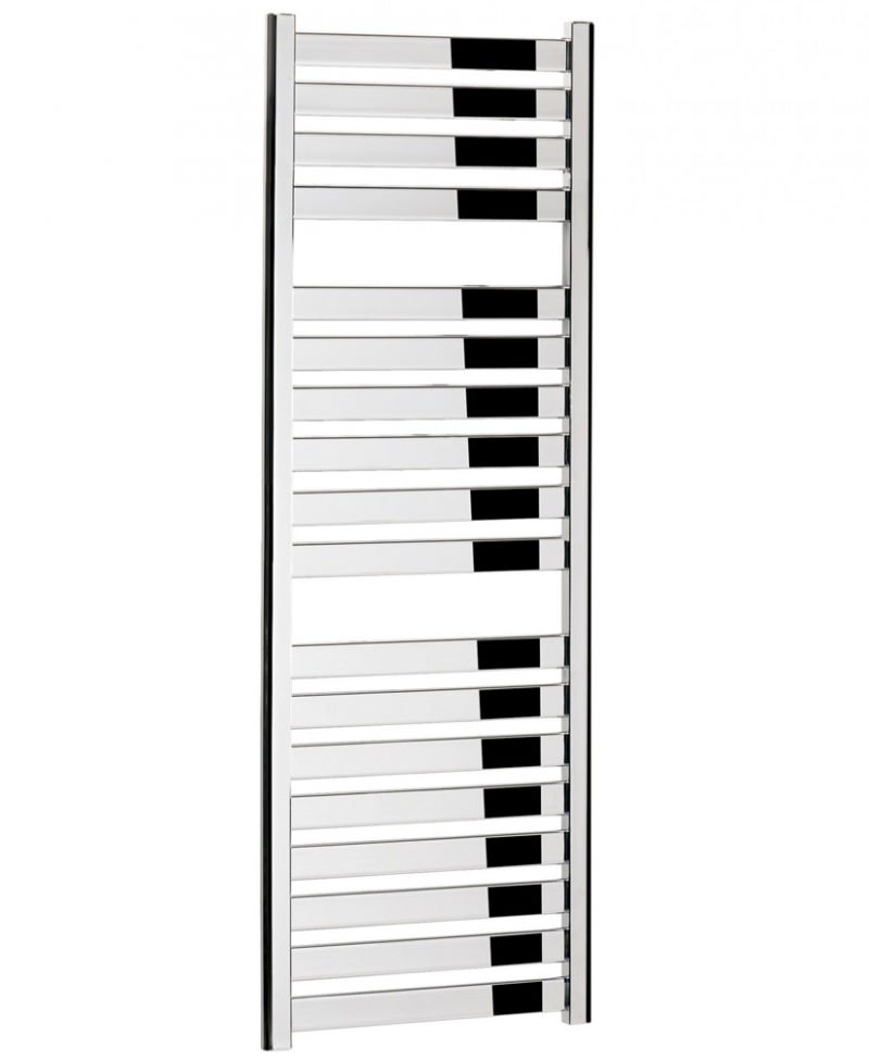Bauhaus Edge Flat Panel Towel Rail Chrome 500 x 1420mm