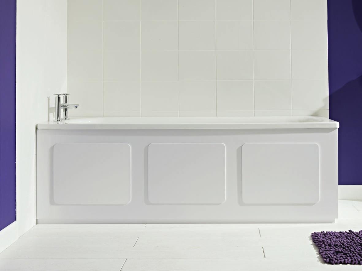 Croydex Storage Bath Panel Gloss White Wb715122