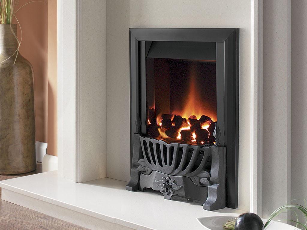 Flavel Warwick Power Flue Inset Gas Fire No Chimney Black  FVNC26MN