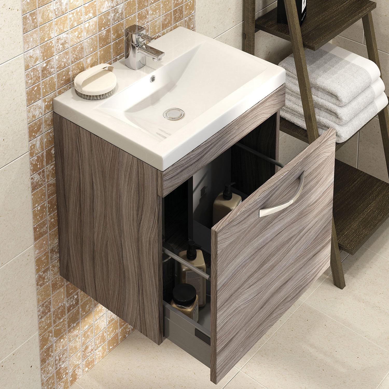 cast iron kitchen sinks cheap curtains lauren shipton 600mm driftwood wall hung drawer cabinet ...