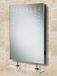 HIB Rain LED Bathroom Mirror With Glass Shelf And Shaver ...