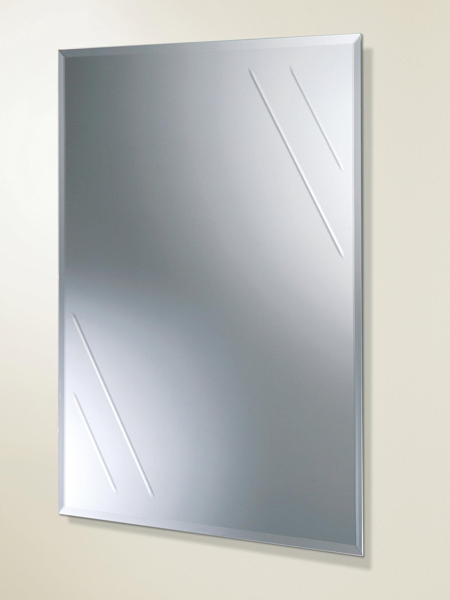 HIB Albina Rectangular Bevelled Edge Bathroom Mirror  61164100