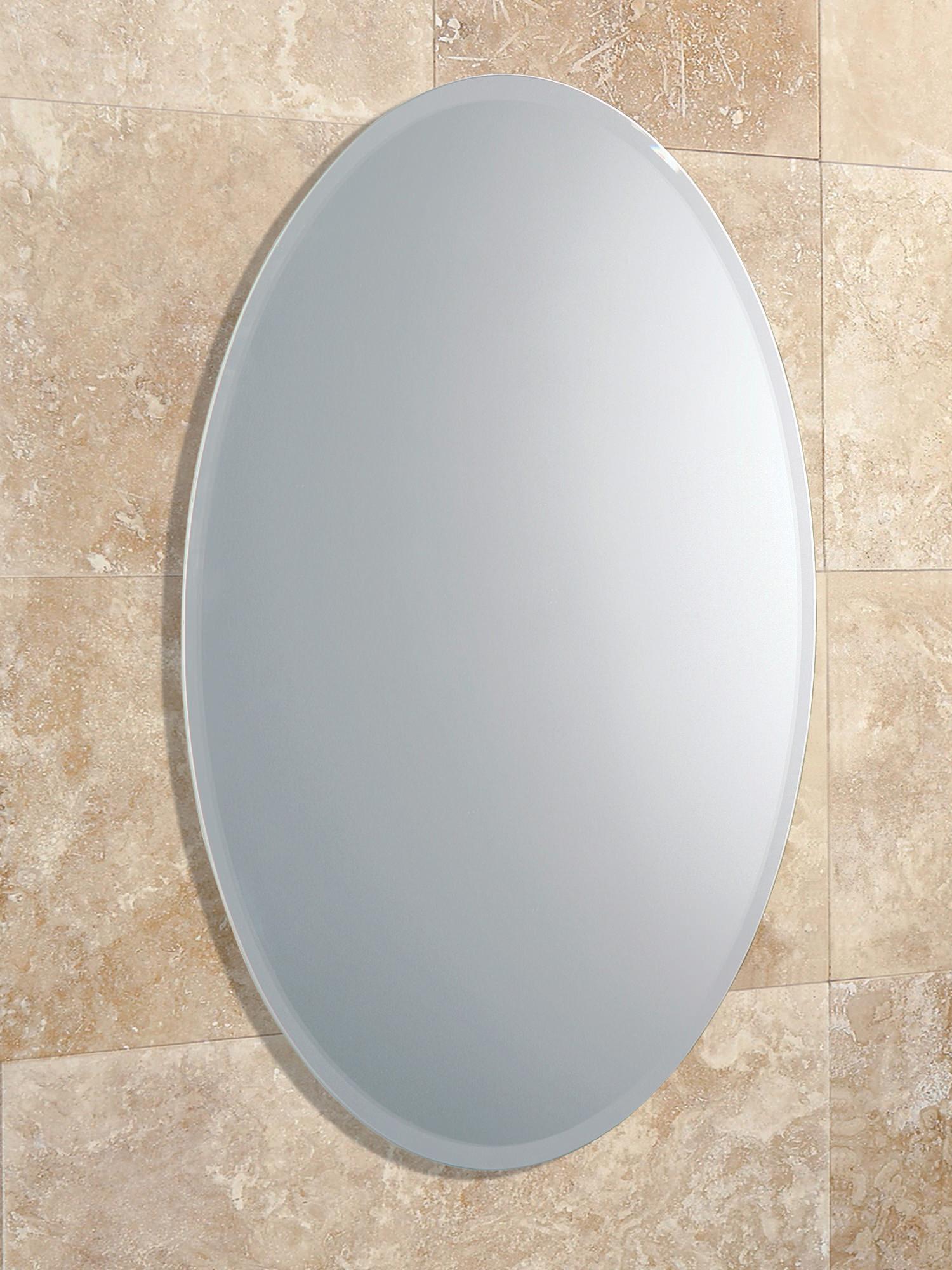 HIB Alfera Oval Shaped Mirror With Bevelled Edge