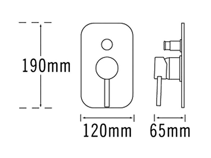 Tre Mercati Milan Manual Shower Valve With Push Button