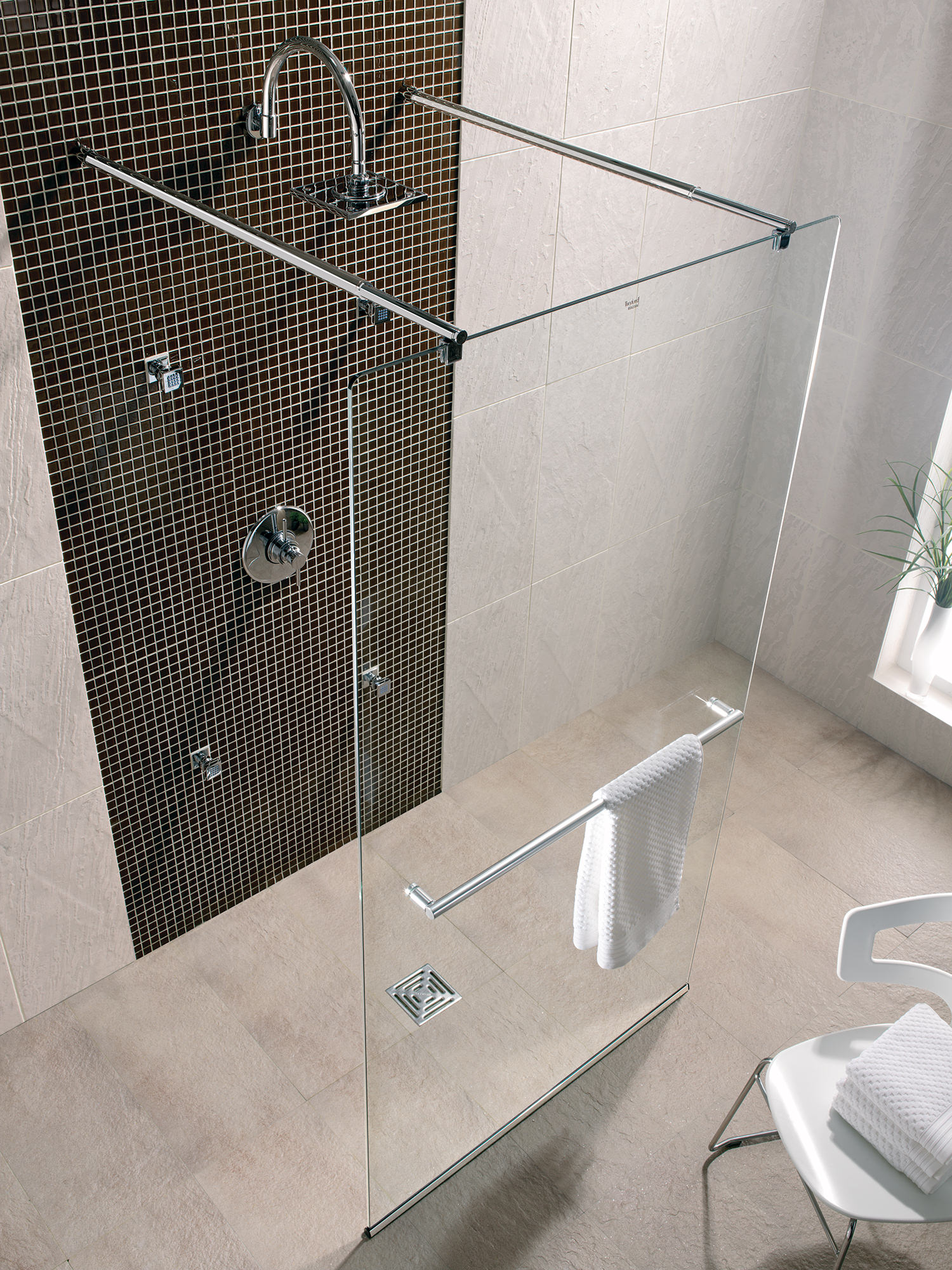 Twyford Hydr8 Walk Through Shower Panel 1200mm H88910CP