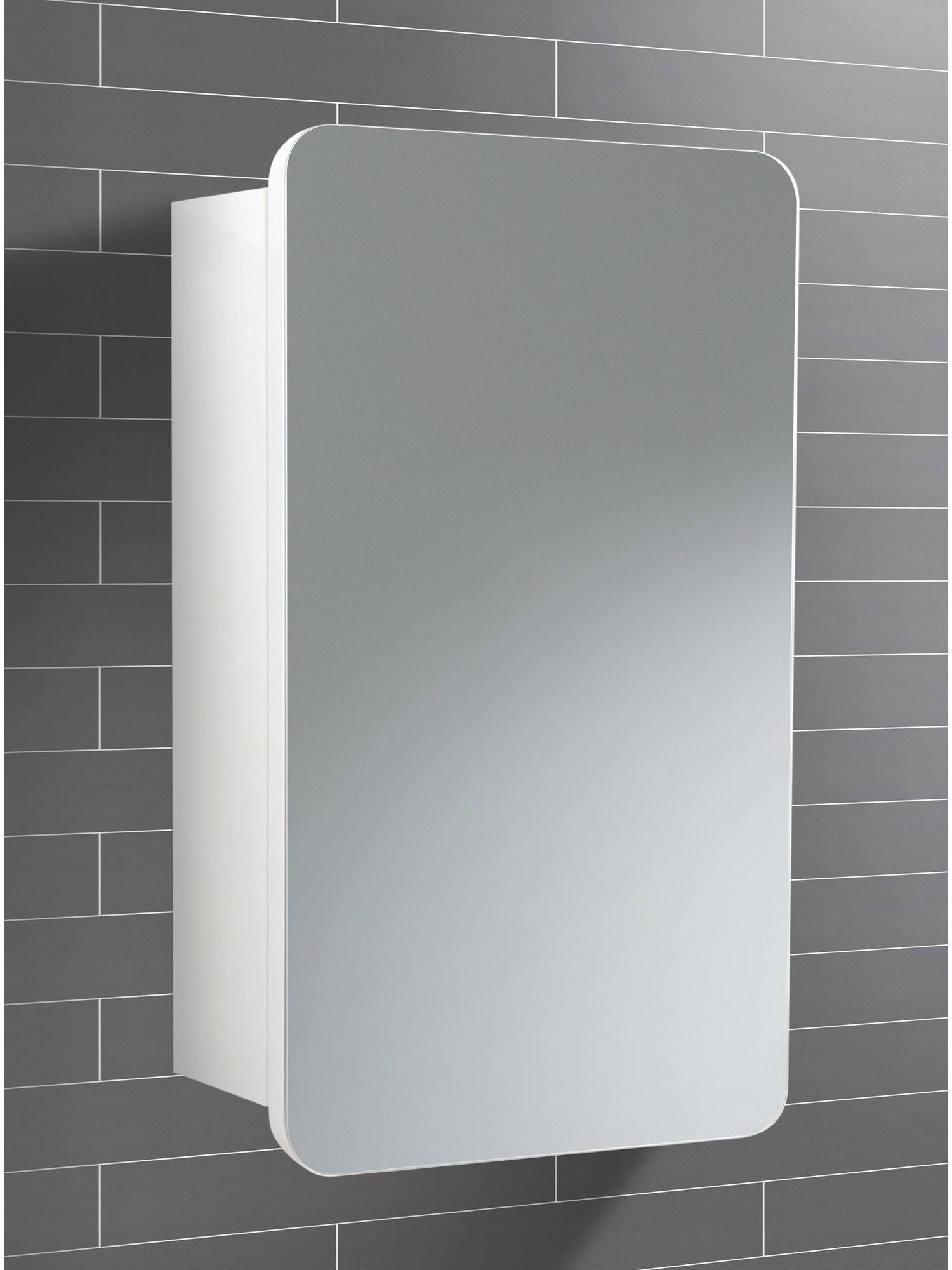 HIB Montana Single Door Bathroom Mirrored Cabinet 350 x