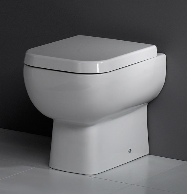 RAK Series 600 Back To Wall WC Pan With SoftClose Seat 500mm