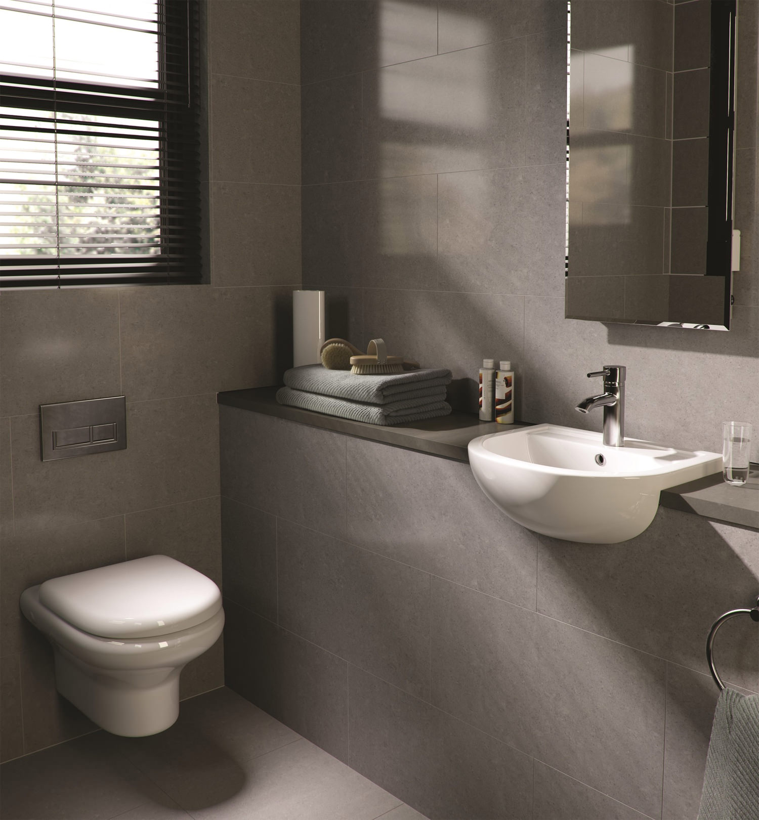 RAK Compact New Wall Hung WC Pan With SoftClose Seat 520mm