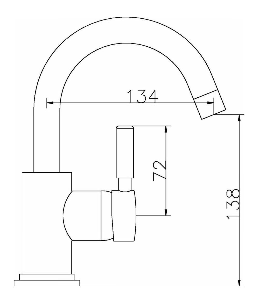Hudson Reed Tec Single Lever Side Action Mini Basin Mixer