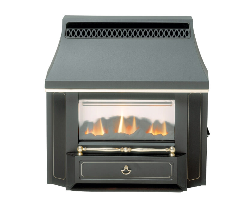 Valor Black Beauty Slimline LFE Outset Gas Fire Black