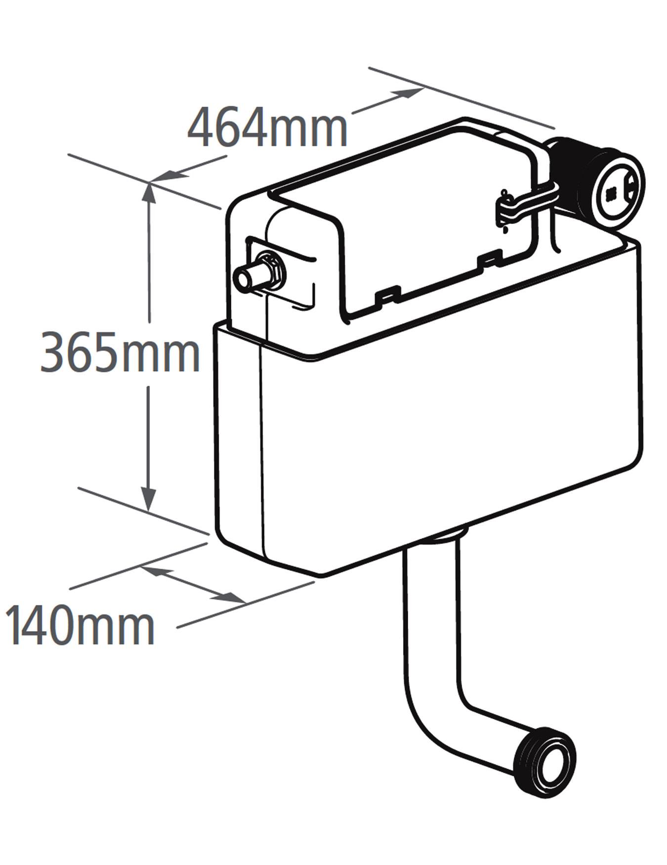 Roper Rhodes Cascade Concealed Dual Flush Cistern