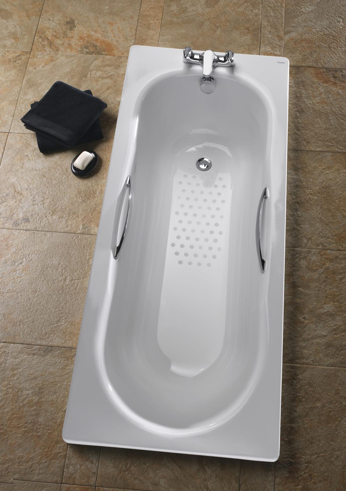 Twyford Celtic 1700 x 700mm Slip Resistant Steel Bath With