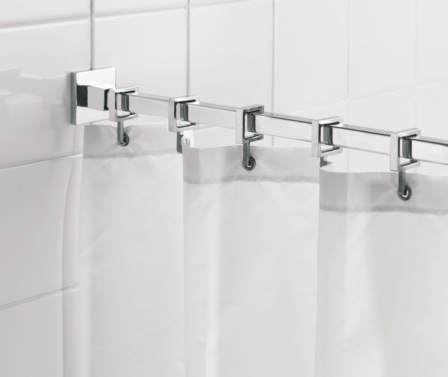 Croydex Luxury Square Shower Curtain Rod Ad116441