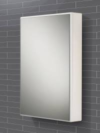 HIB Tulsa Slimline Single Door Mirrored Cabinet 500 x