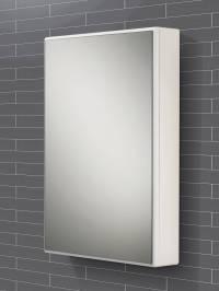 HIB Tulsa Slimline Single Door Mirrored Cabinet 500 x ...