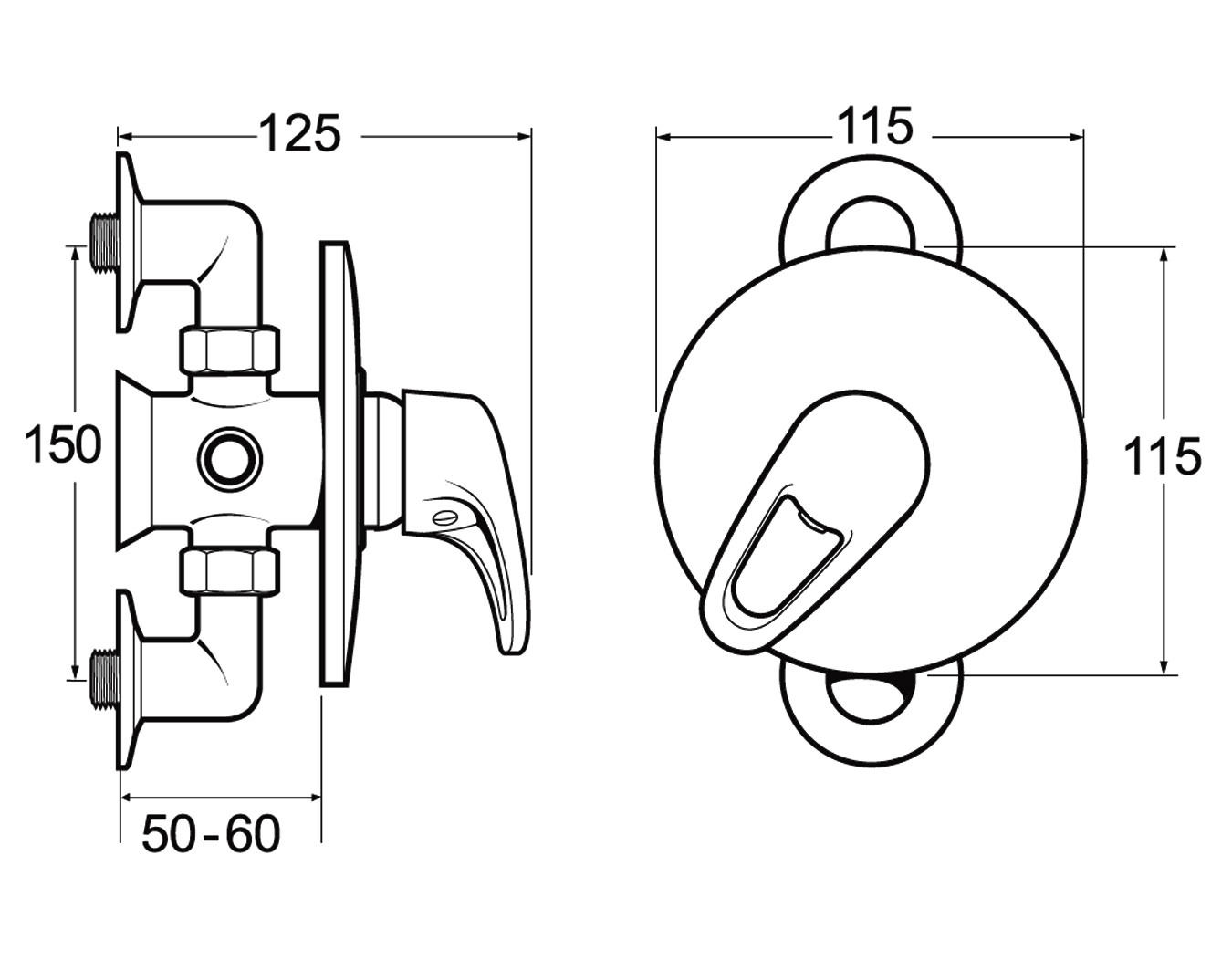 Deva Lace Exposed Or Concealed Manual Shower Valve