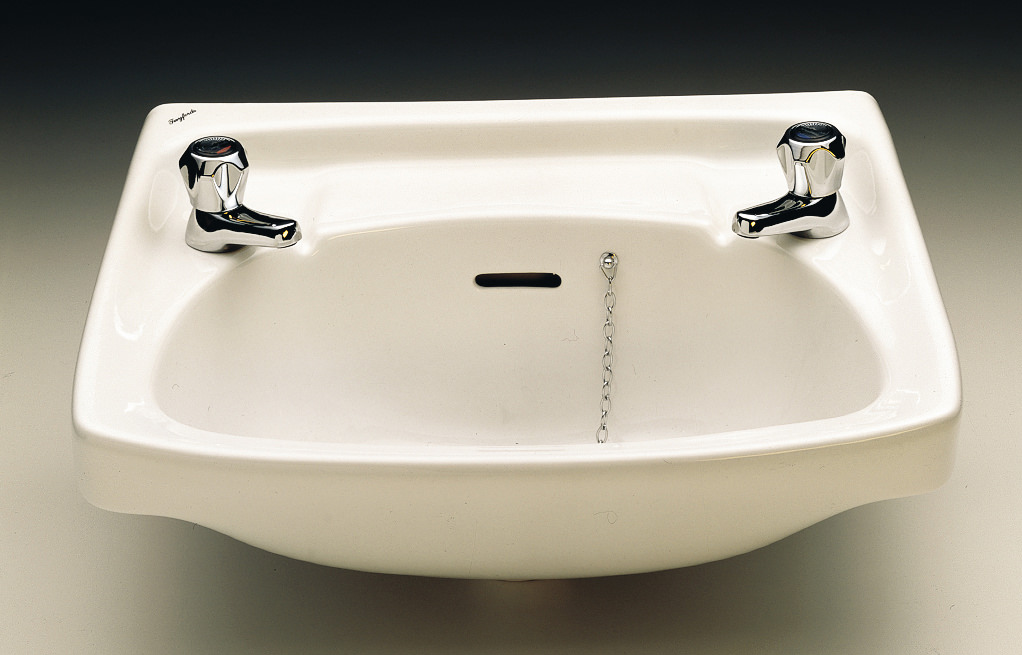 Twyford Classic 560 x 415mm 2 Tap Hole Washbasin  CC4212WH