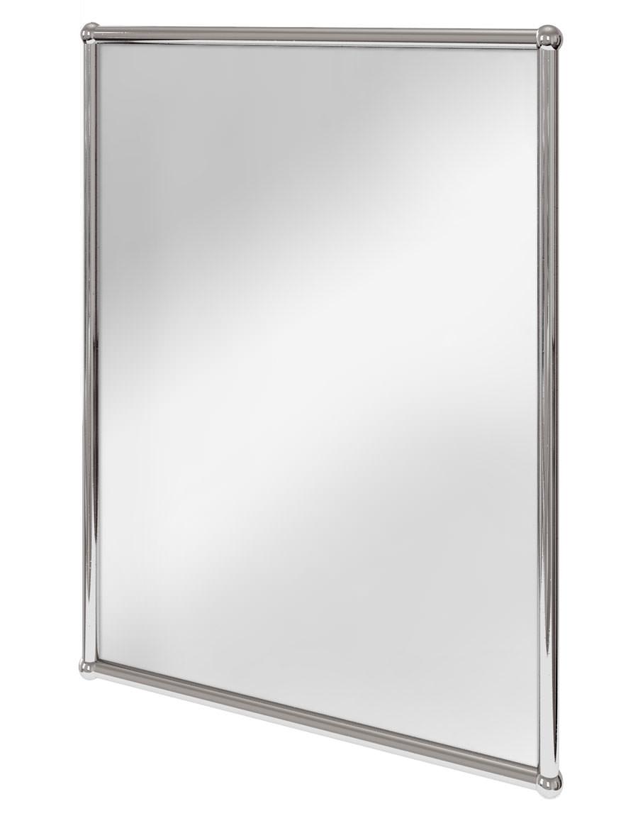 Burlington Rectangular Mirror With Chrome Frame  A11 CHR