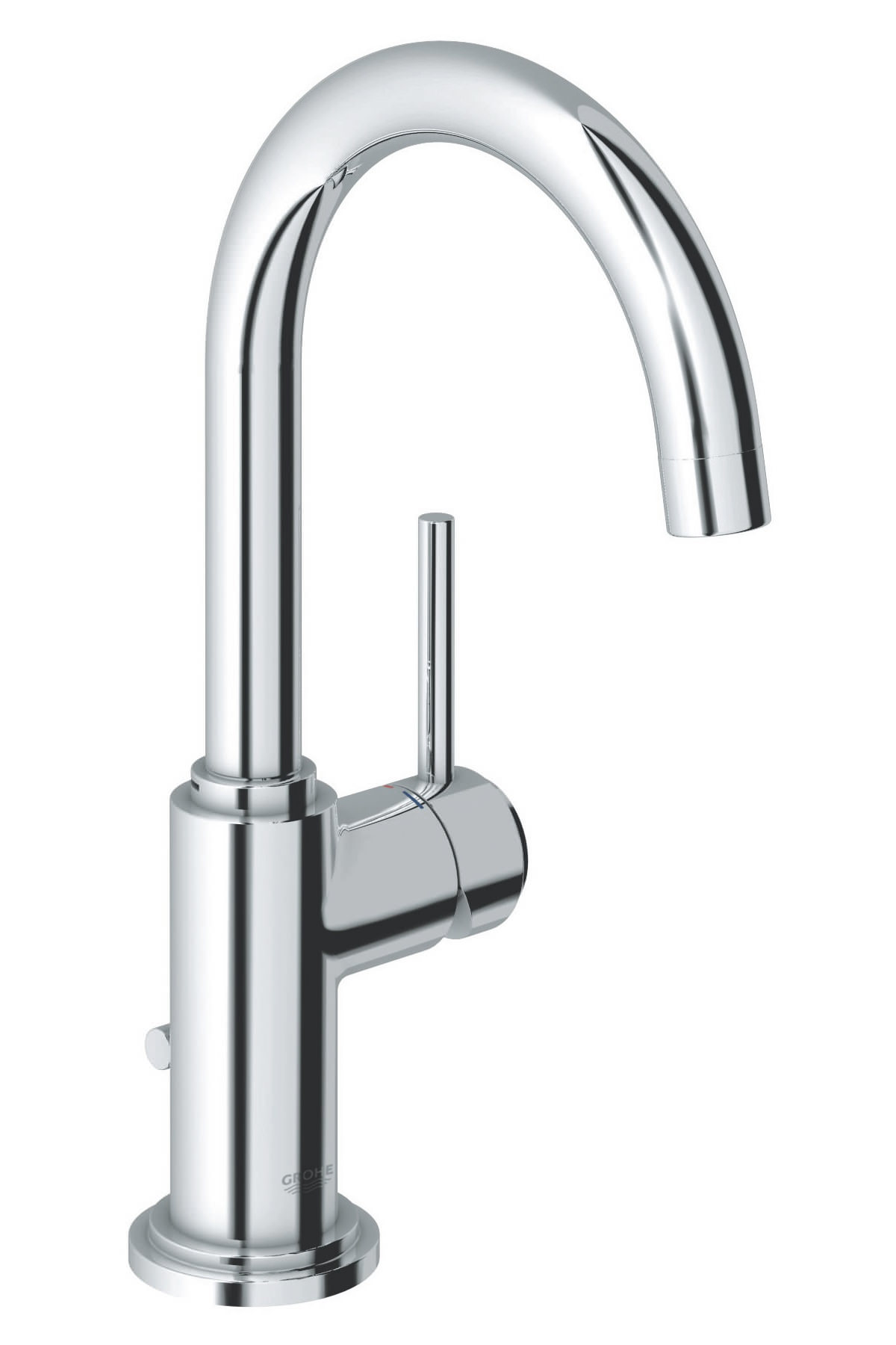 grohe kitchen faucet home depot sink spa atrio c-spout half inch basin mixer tap - 32042001