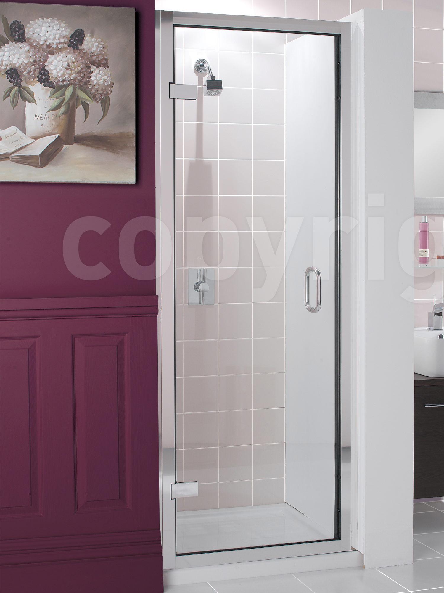 Simpsons Classic Frameless Hinged Shower Door 900 x 1950mm