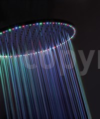 Crosswater Rio Spectrum Shower Head With Lights And ...