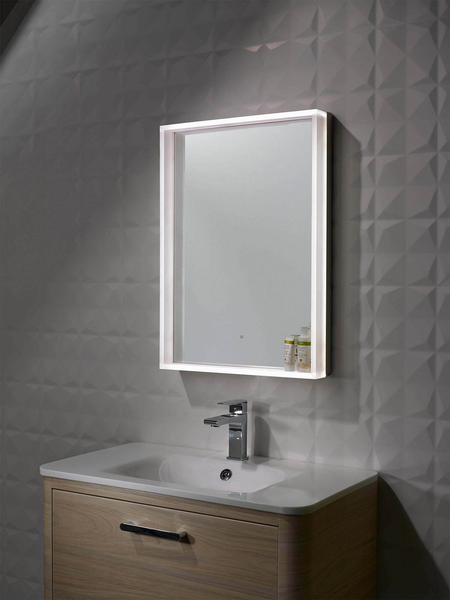 Roper Rhodes Aura Illuminated Framed Mirror 500 x 700mm
